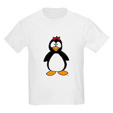 Penguin Girl Kids T-Shirt