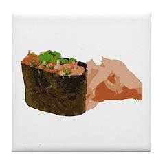 Negi Toro Gunkan Maki and Gar Tile Coaster