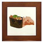 Negi Toro Gunkan Maki and Gar Framed Tile
