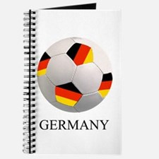 Soccer Ball With German Flag Journal