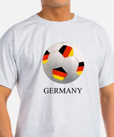 Soccer Ball With German Flag T-Shirt