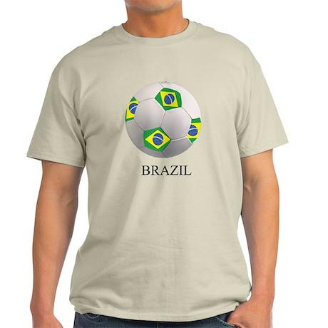 Soccer Ball With Brazil Flags Light T-Shirt