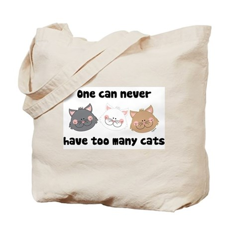 Never Too Many Cats Tote Bag