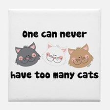 Never Too Many Cats Tile Coaster