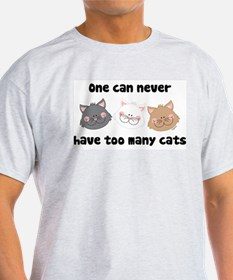 Never Too Many Cats Ash Grey T-Shirt