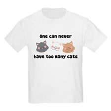 Never Too Many Cats Kids T-Shirt
