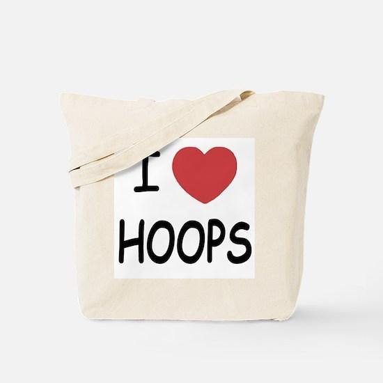 I love hoops Tote Bag