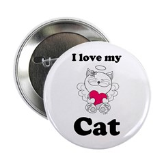 Kitty Cat Angel Button