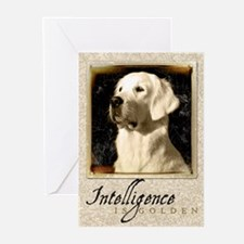 """Intelligence Is Golden"" Greeting Cards (Pk of 10)"