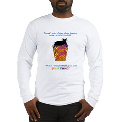 Cat in Laundry Long Sleeve T-Shirt