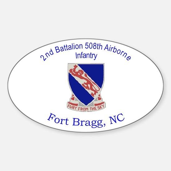 2nd Bn 508th ABN Sticker (Oval)