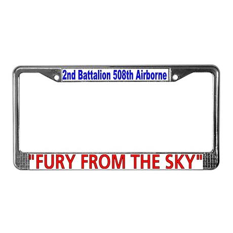 2nd Bn 508th ABN License Plate Frame