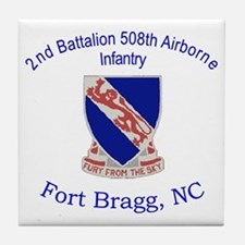 2nd Bn 508th ABN Tile Coaster