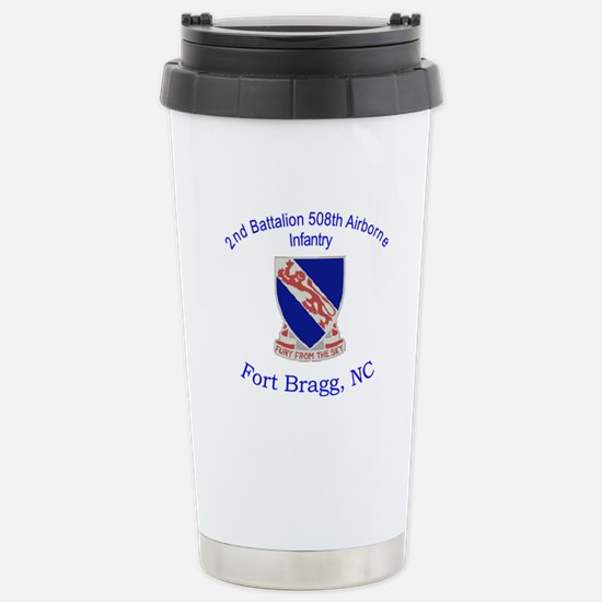 2nd Bn 508th ABN Stainless Steel Travel Mug