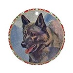 Norwegian Elkhound Ornament (Round)