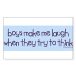Boys Make Me Laugh Rectangle Sticker