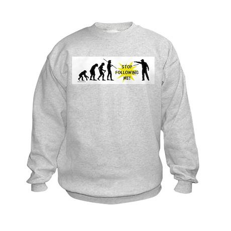 Stop Following! Kids Sweatshirt