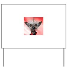 Cute Chinese crested Yard Sign