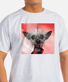 Cute Chinese crested dog T-Shirt