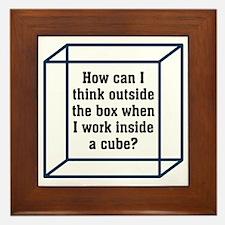 Outside The Box Framed Tile