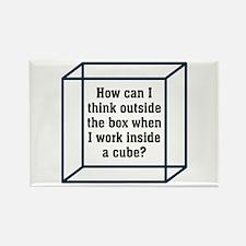 Outside The Box Rectangle Magnet