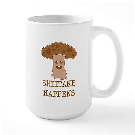 Shiitake Happens Large Mug