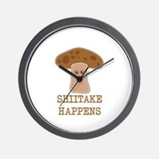 Shiitake Happens Wall Clock