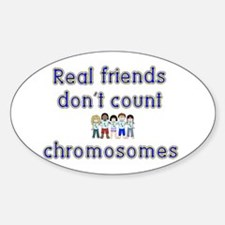 Friends don't count... Oval Decal