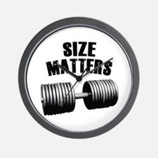 Size matters Wall Clock