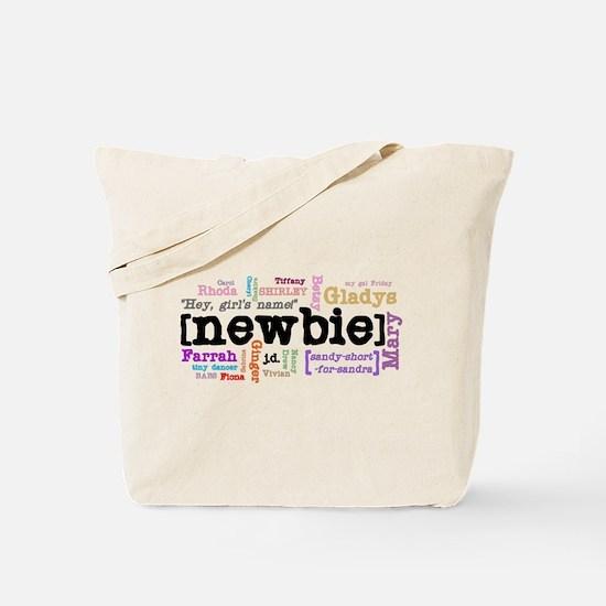 Girl's Name Tote Bag