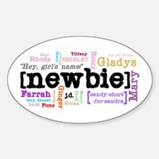 Girl's Name Sticker (Oval)