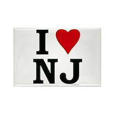 I LOVE NJ Rectangle Magnet