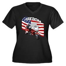 Funny Bikes Women's Plus Size V-Neck Dark T-Shirt