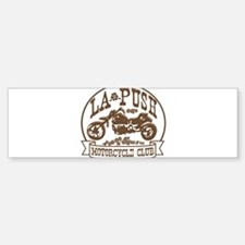 La Push Motorcycles Brown Bumper Bumper Sticker