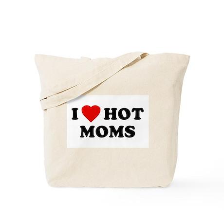 I Love [Heart] Hot Moms Tote Bag