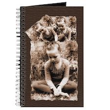 Sepia Girl In Garden Journal