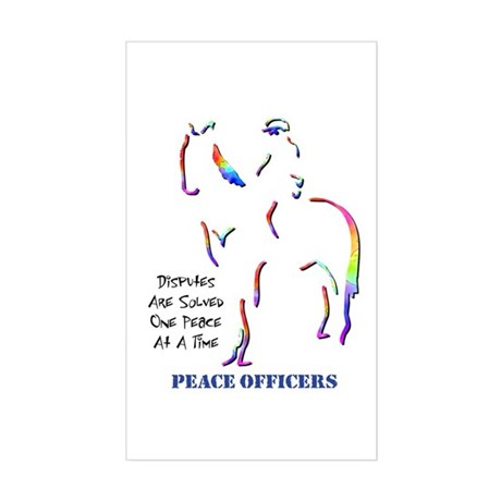 Peace Officers Rectangle Sticker