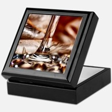 Wine Stem and Marbles Art Photography Keepsake Box