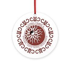 ALPHA OMEGA Ornament (Round)