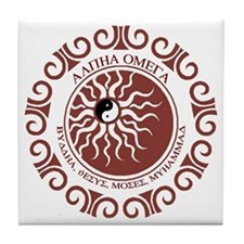 ALPHA OMEGA Tile Coaster