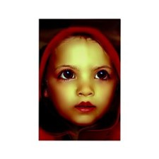 Little Red Riding Hood Disturbed Rectangle Magnet