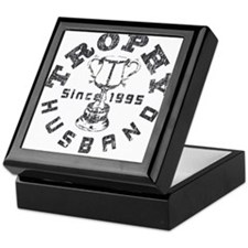 Trophy Husband Since 1995 Keepsake Box