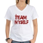 Team Myself Women's V-Neck T-Shirt