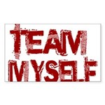 Team Myself Sticker (Rectangle 50 pk)