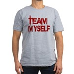 Team Myself Men's Fitted T-Shirt (dark)