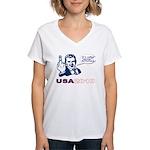 USA 2010 Women's V-Neck T-Shirt