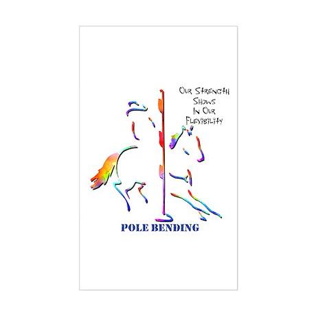 Pole bending decal