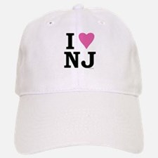 I LOVE NJ (Pink) Baseball Baseball Cap