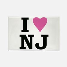 I LOVE NJ (Pink) Rectangle Magnet