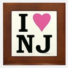 I LOVE NJ (Pink) Framed Tile